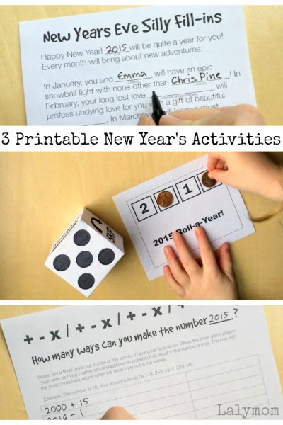 New Year's Eve Ideas for Kids – 3 Printable Activities