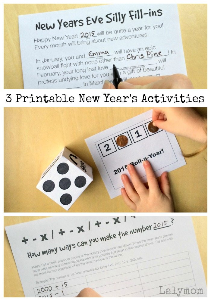 FREE New Year's Eve Printables via Kara's Party Ideas from Lalymom