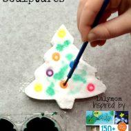 Christmas Activities for Kids – Salt Sculpture Trees – Review of 150+ Screen Free Activities for Kids