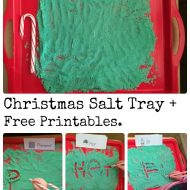 Fun Writing Activities- Christmas Salt Tray