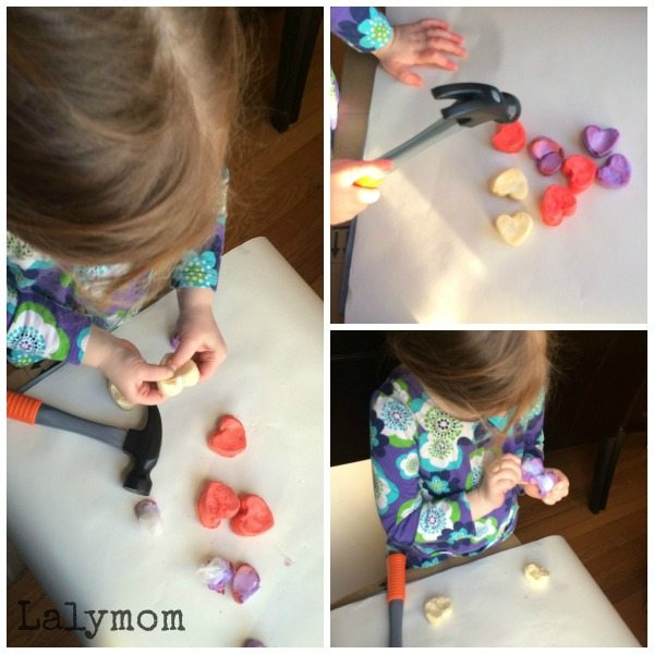Anti-Valentines Day Baked Cotton Balls on Lalymom - 8 Fun Heart Breaker Activities