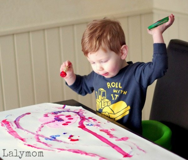 Doily Print Making - Just Roll with it When Painting with Toddlers!