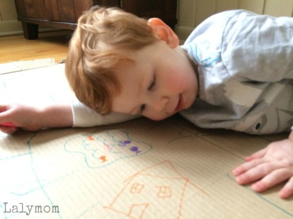 Drawing and Writing Together Activity with Toddler