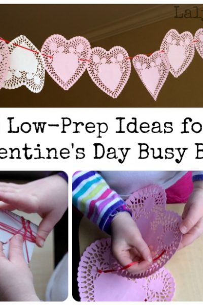 Valentine's Day Activities for Kids- 3 Low Prep Busy Bags