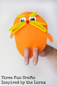 3 FUN dr. seuss crafts for preschoolers inspired by the Lorax - Click through for more Seuss Ideas!