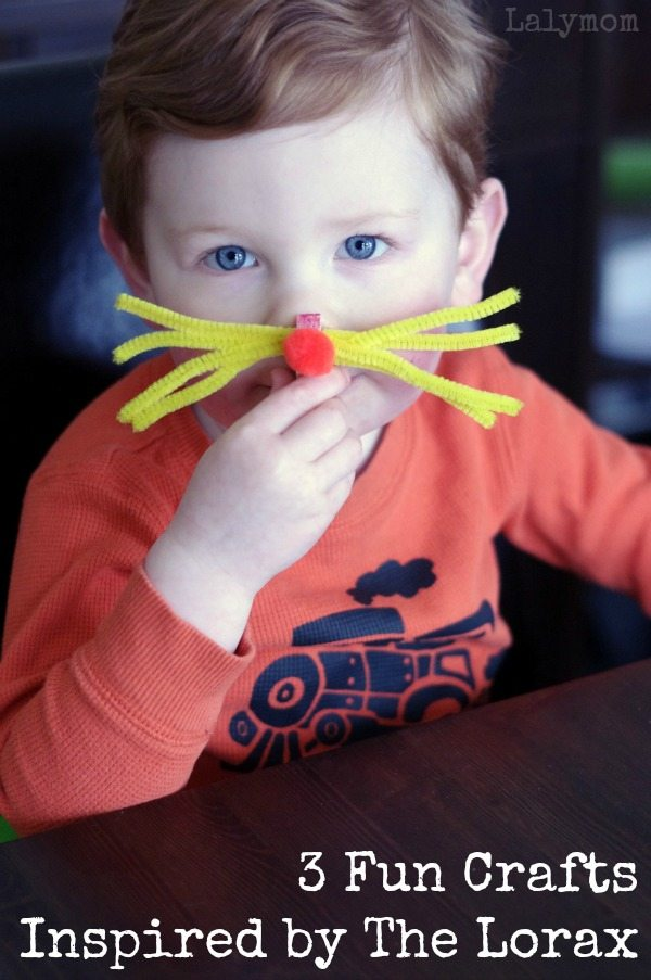 3 Fun Dr. Seuss Crafts for Kids - Click through to see more Lorax Fun!