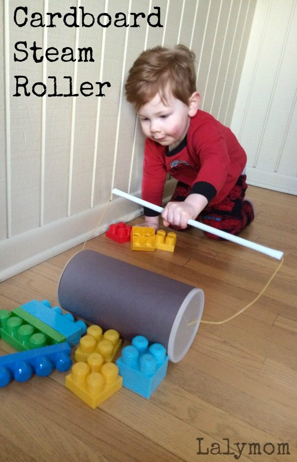 Cardboard Crafts - Easy Steam Roller Construction Vehicle Toy