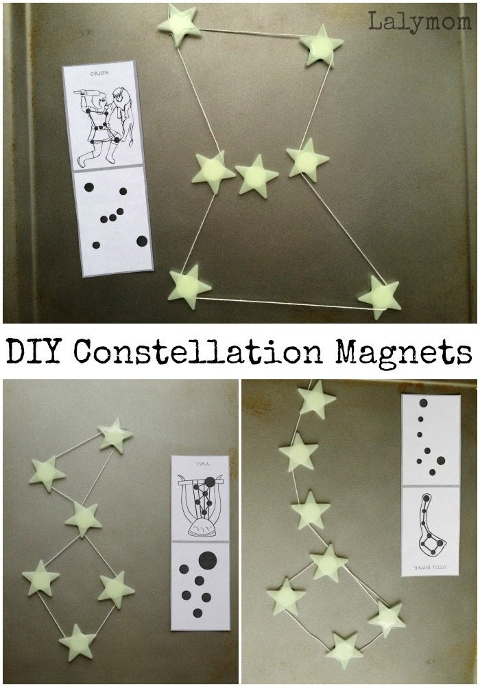 Constellations for Kids - Easy DIY Connecting Star Magnets on Lalymom.com- how cool is this!