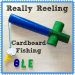 DIY Cardboard Fishing Pole Toy from lalymom