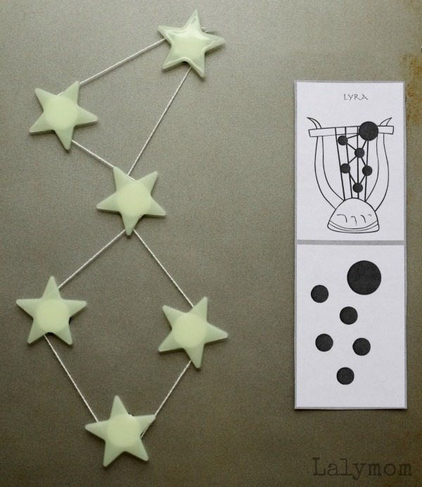 DIY Star Magnets to teach constellations to kids on Lalymom