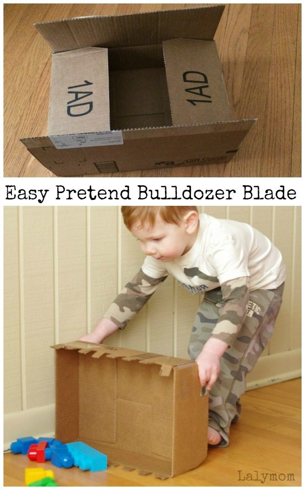 Easy Cardboard Box Craft - DIY Bulldozer Blade Toys for Kids