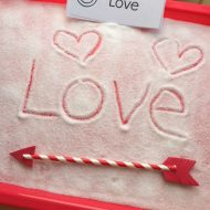 Fun Writing Activities- Valentine Salt Tray