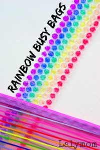 Rainbow Busy Bags on Lalymom