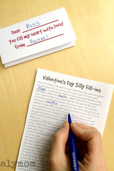 Free Printable Valentine Cards to Hand Out – Silly Fill-ins