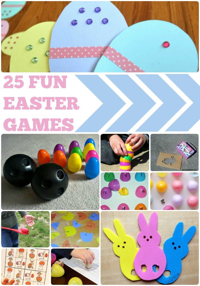25 Fun Easter Games for Kids - Featured on Lalymom.com - how cute are these!  #easter #games #eastergames #kids #activities #toddler #preschool #elementary #school #party