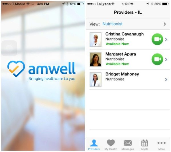 AmWell - See a Doctor or Nutritionist online Right now! #MomsLoveAmWell