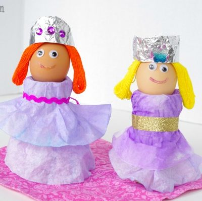 Easter Egg Ideas – Coffee Filter Princesses