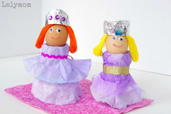 Coffee Filter Crafts - Adorable Princess Easter Eggs Cups