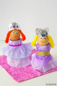 Easter Crafts for Kids - Coffee Filter Princess Easter Egg Cups - Part of Fine Motor Fridays