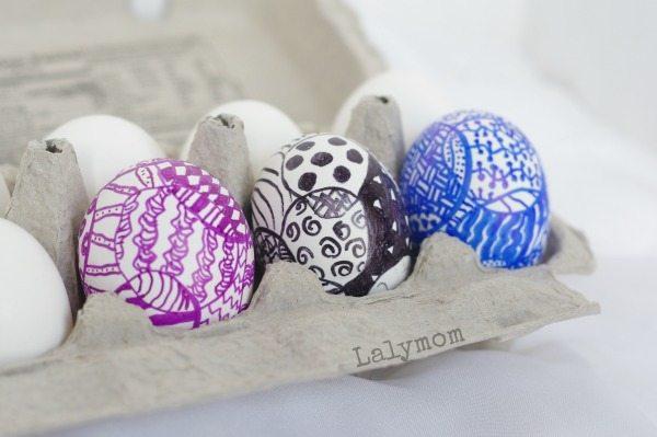 easter egg ideas for kids zeggtangle zentange easter eggs - Easter Egg Ideas