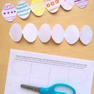 Easter Preschool Crafts – Printable Easter Egg Garland