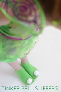 Easy DIY Tinker Bell Costume Slippers - perfect gift for any Tink fan, pair them with a copy of Tinker Bell and the Legend of the NeverBeast #ad #collectivebias #TinkandNeverBeast