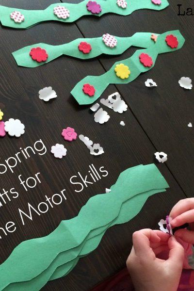 Spring Crafts for Preschool Fine Motor Skills