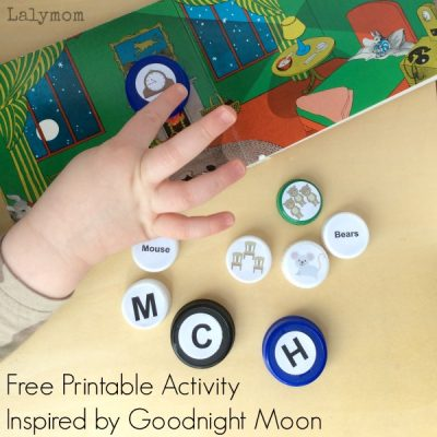 Free Printable Goodnight Moon Book Words & Letters Fine Motor Activity for kids - cute book extension activity!