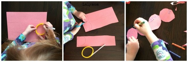 Making cookie cutter garland