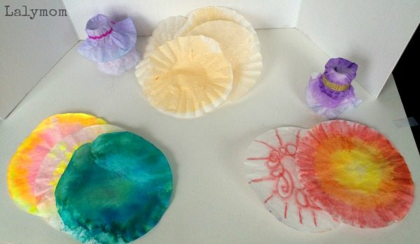 coffee filter crafts for Easter Egg Cups