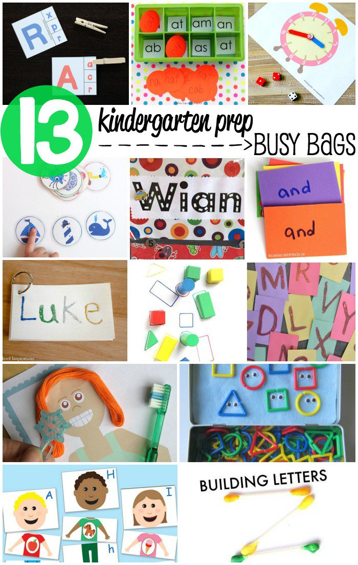 13 Kindergarten Prep Busy Bags for Kids - Get the skills to get ready for school