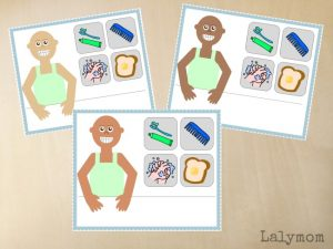13 Kindergarten Readiness Busy Bags- Free Printable Self Care & Morning Routine Mats for Kids