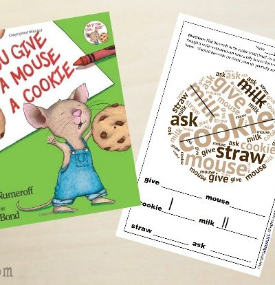 Free Printable If You Give a Mouse a Cookie Activities
