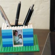 LEGO Gifts – Kid Made LEGO Photo Pen Holder