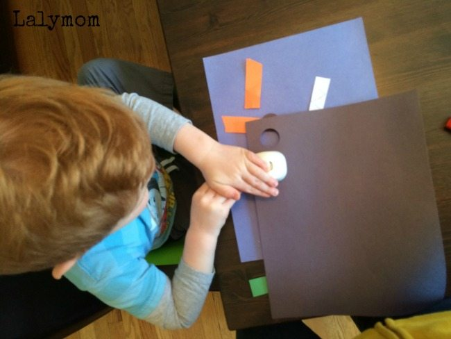 Cut Punch Paste Crafts for kids
