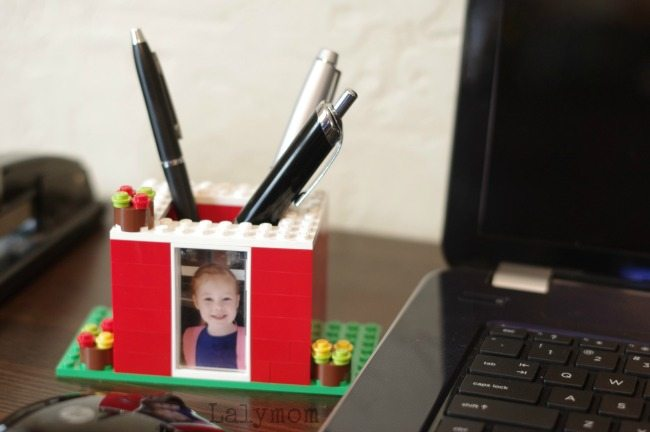 Photo Gift for Dad - Kid Made LEGO Pen Holder