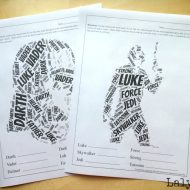 Star Wars Printable Word Cloud Worksheets