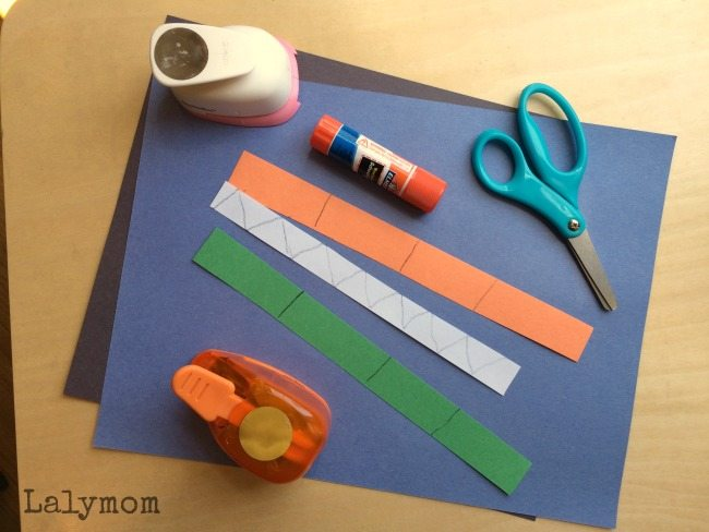 Toddler Cut, Punch Paste Crafts for Fine Motor Skills