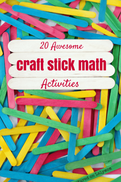 20 Fun Math Activities Using Craft Sticks