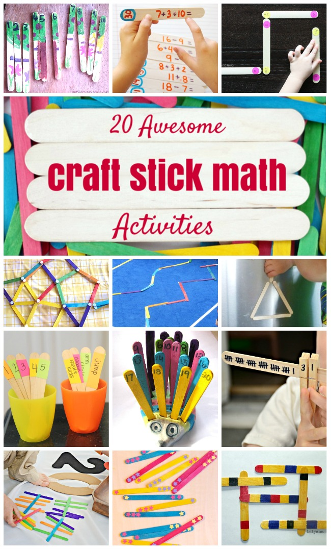 20 Fun Math Activities Using Craft Sticks - LalyMom