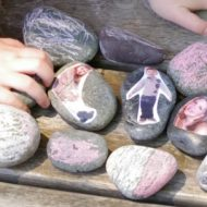 Family or Classmate Photo Story Stones - part pf the Craft Closet Boredom Busters Week on Lalymom