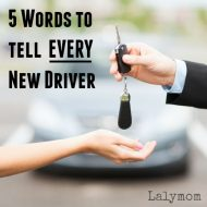 5 Words to Tell Every New Driver – Tips for New Drivers