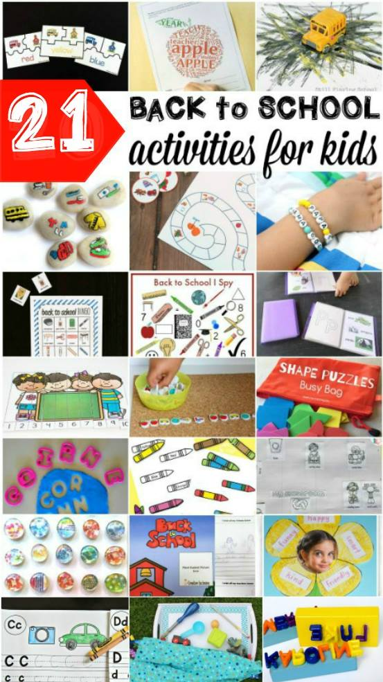 Back to School Activities for kids - crafts, printables, games and more!