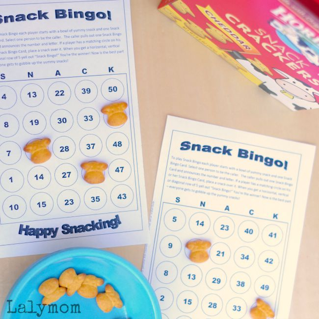 Fun Snack Ideas for Kids - Free Printable Snack Games Pack - 6 Pages of Snack-Fueled Fun!