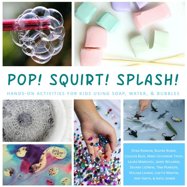 Hands-on activities for kids using soap, water and bubbles - awesome book!