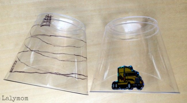 Truck Twisty Cups- Can you make the truck climb the mountain And other Donald Crews Inspired Book Activities for Kids