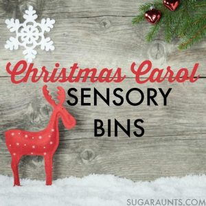Christmas Sensory Bins to Pair with Christmas Carols