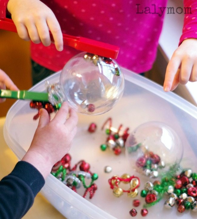 Fun Christmas Carol Sensory Bin for Kids - Jingle Bells, Magnets and fun!