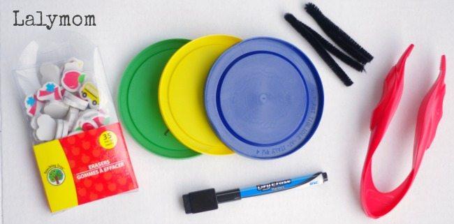 Mini Erasers Math Activities - Number Bonds
