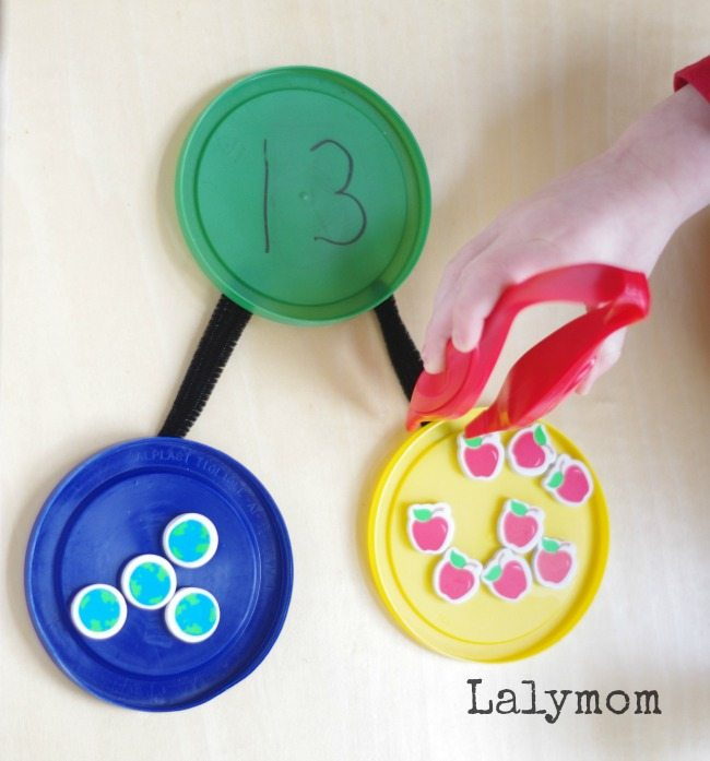 Number Bonds Math Activities - 10+ Learning Activities Using Mini Erasers